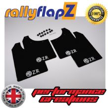 MG ZR  (2001-2005) BLACK MUDFLAPS (Logo White)